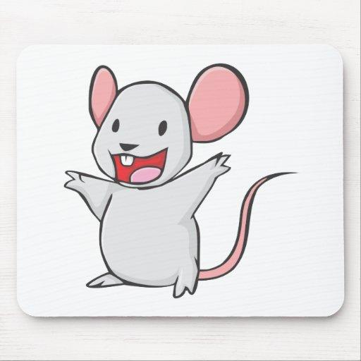Ratón feliz alfombrilla de raton