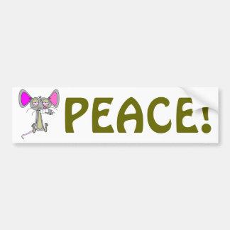 Ratón feliz etiqueta de parachoque