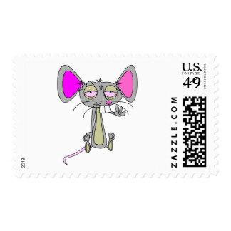 Ratón feliz sellos