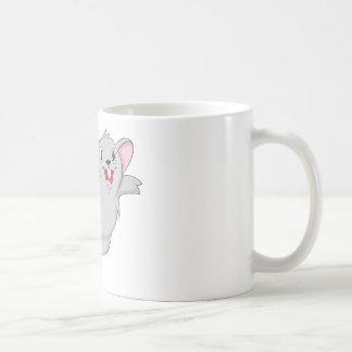 Ratón feliz taza de café