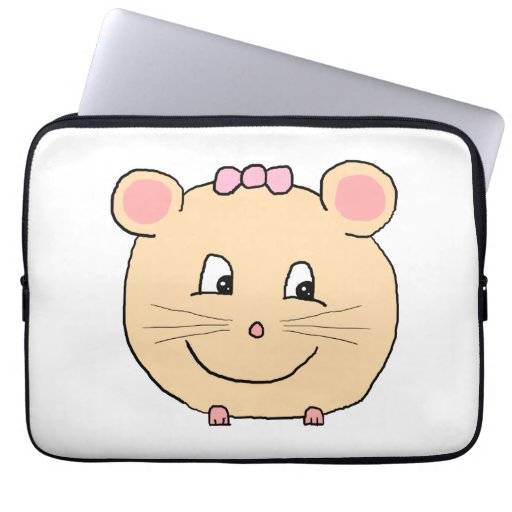 Ratón femenino lindo manga computadora