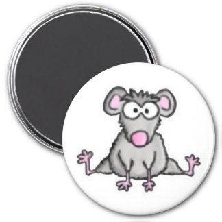 Ratón flexible imán redondo 7 cm