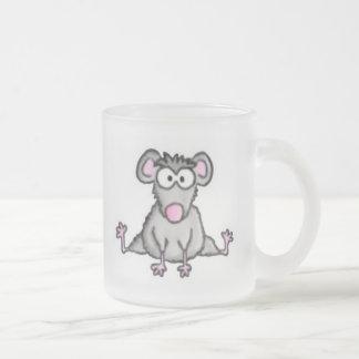 Ratón flexible taza cristal mate