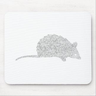 Ratón gris apenado alfombrilla de ratón