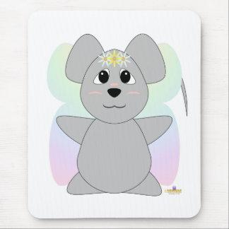 Ratón gris de hadas Huggable Alfombrilla De Ratón