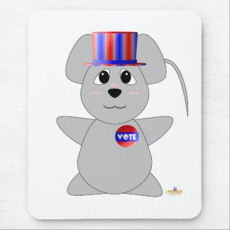 Ratón gris de votación Huggable Alfombrilla De Ratón