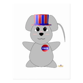 Ratón gris de votación Huggable Postales