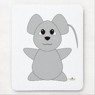Ratón gris Huggable Alfombrilla De Ratón