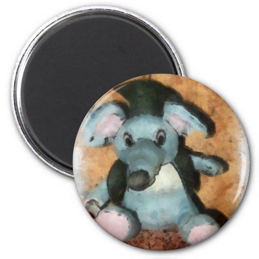 Ratón gris imanes de nevera