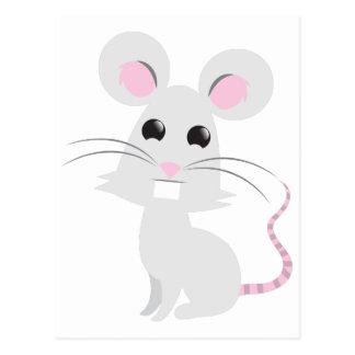 Ratón gris lindo postal