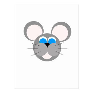 Ratón gris postal