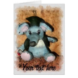 Ratón gris tarjeta de felicitación