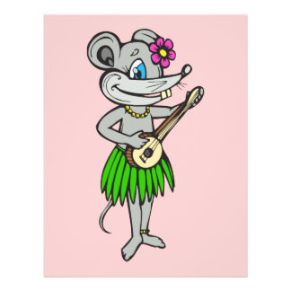 "Ratón hawaiano de Hula Folleto 8.5"" X 11"""