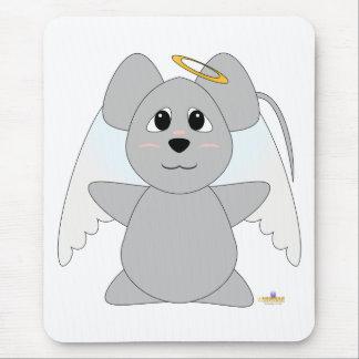 Ratón Huggable del gris del ángel Alfombrilla De Ratón