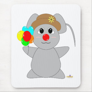 Ratón Huggable del gris del payaso Alfombrilla De Ratón