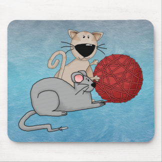 Ratón juguetón tapetes de raton
