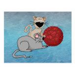 Ratón juguetón tarjetas postales