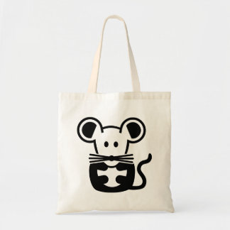 Ratón lindo bolsa tela barata