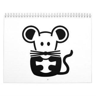 Ratón lindo calendarios