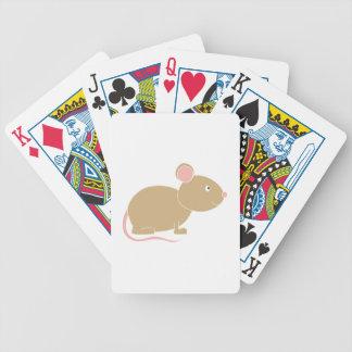 Ratón lindo barajas de cartas