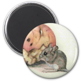 Ratón lindo iman de nevera