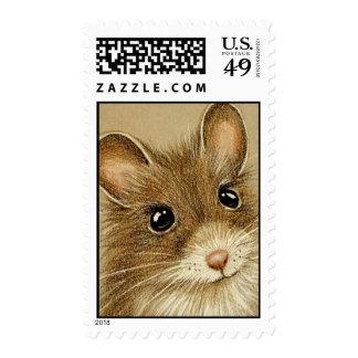 Ratón lindo sello