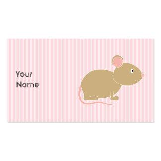Ratón lindo tarjeta personal