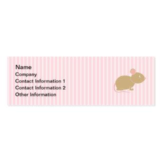 Ratón lindo tarjetas de visita mini