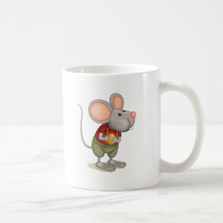Ratón lindo taza básica blanca