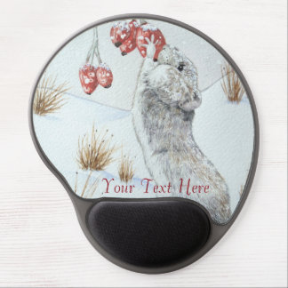 ratón lindo y arte rojo de la fauna de la escena alfombrilla de ratón con gel