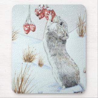 Ratón lindo y arte rojo de la fauna de la escena d tapetes de raton