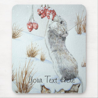 Ratón lindo y arte rojo de la fauna de la escena alfombrilla de raton