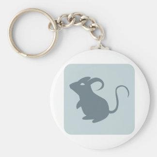 Ratón Llavero Redondo Tipo Pin