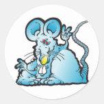 Ratón maravilloso etiquetas redondas