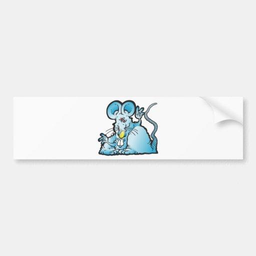 Ratón maravilloso pegatina de parachoque