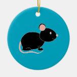 Ratón negro adorno para reyes