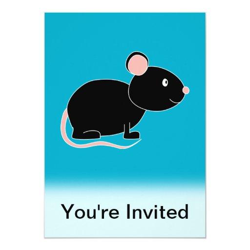 Ratón negro anuncios personalizados