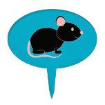 Ratón negro decoraciones de tartas