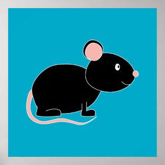 Ratón negro poster