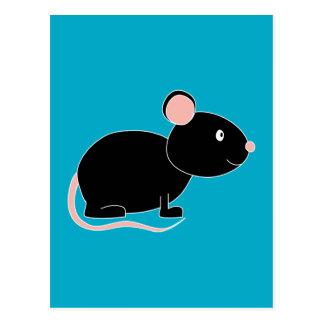 Ratón negro postal