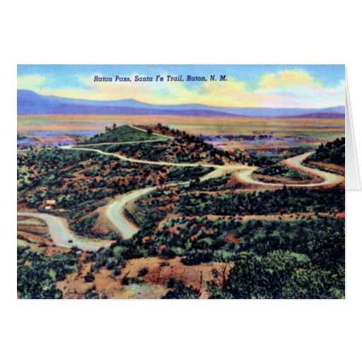 Raton New Mexico Raton Pass Santa Fe Trail Card