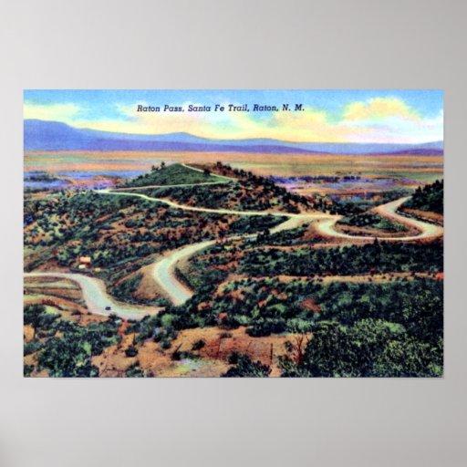 Raton New Mexico Raton Pass Santa Fe Trail Poster