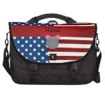 Ratón patriótico conocido personalizado bolsas de portátil