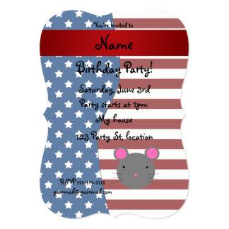 Ratón patriótico conocido personalizado invitación 12,7 x 17,8 cm