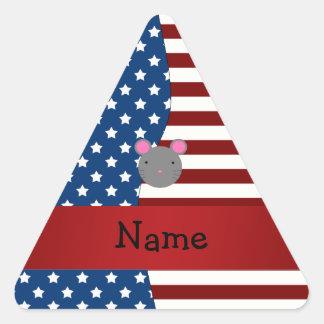 Ratón patriótico conocido personalizado colcomanias trianguladas