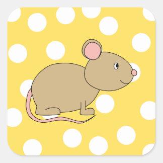 Ratón Pegatina Cuadrada