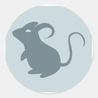 Ratón Pegatina Redonda