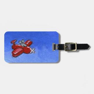 Ratón plano etiquetas para maletas