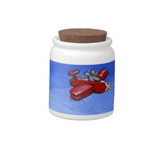 Ratón plano jarras para caramelos