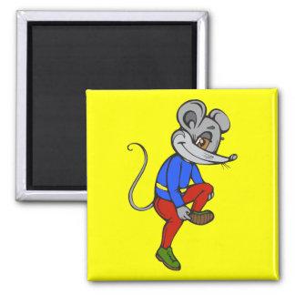 Ratón que activa imán cuadrado